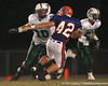 Venice High School senior tackle Brian O'Leary blocks during the Venice Indians' 34-10 win against the Southeast Seminoles on Friday, October 2, 2009 at John Kiker Memorial Stadium in Bradenton, Fla. / Gator Country photo by Tim Casey