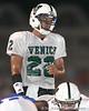 Venice High School senior Trey Burton (22) lines up during the Indians' 34-10 win against the Southeast Seminoles on Friday, October 2, 2009 at John Kiker Memorial Stadium in Bradenton, Fla. / Gator Country photo by Tim Casey