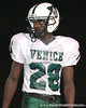 Venice High School senior David Williams lines up during the Venice Indians' 34-10 win against the Southeast Seminoles on Friday, October 2, 2009 at John Kiker Memorial Stadium in Bradenton, Fla. / Gator Country photo by Tim Casey