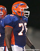 Southeast High School sophomore defensive end Kevin Williams lines up during the Venice Indians' 34-10 win against the Seminoles on Friday, October 2, 2009 at John Kiker Memorial Stadium in Bradenton, Fla. / Gator Country photo by Tim Casey