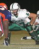 Venice High School senior guard Matt Collins (67) lines up during the Indians' 34-10 win against the Southeast Seminoles on Friday, October 2, 2009 at John Kiker Memorial Stadium in Bradenton, Fla. / Gator Country photo by Tim Casey