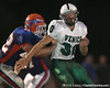 Venice High School senior linebacker Anders Ullrich rushes the quarterback during the Venice Indians' 34-10 win against the Southeast Seminoles on Friday, October 2, 2009 at John Kiker Memorial Stadium in Bradenton, Fla. / Gator Country photo by Tim Casey