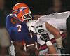 Southeast High School junior quarterback Dyron Speight gets sacked during the Venice Indians' 34-10 win against the Seminoles on Friday, October 2, 2009 at John Kiker Memorial Stadium in Bradenton, Fla. / Gator Country photo by Tim Casey