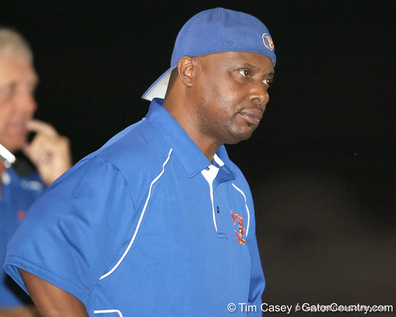 Southeast High School assistant coach Eddie Starling looks on during the Venice Indians' 34-10 win against the Seminoles on Friday, October 2, 2009 at John Kiker Memorial Stadium in Bradenton, Fla. / Gator Country photo by Tim Casey