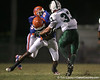 Southeast High School senior Jonathan Dowling (5) blocks a linebacker during the Venice Indians' 34-10 win against the Seminoles on Friday, October 2, 2009 at John Kiker Memorial Stadium in Bradenton, Fla. / Gator Country photo by Tim Casey