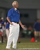 Southeast High School coach Paul Maechtle talks to a referee during the Venice Indians' 34-10 win against the Seminoles on Friday, October 2, 2009 at John Kiker Memorial Stadium in Bradenton, Fla. / Gator Country photo by Tim Casey