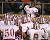 photo by Tim Casey<br /> <br /> Greg Reid fires up his teammates before the Lowndes County High School Vikings' 14-7 win against the Valdosta Wildcats in the Winnersville Classic on Friday, October 10, 2008 at Cleveland Field at Bazemore-Heyder Stadium in Valdosta, Ga.