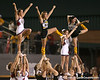 photo by Tim Casey<br /> <br /> Cheerleaders from both schools perform before the Lowndes County High School Vikings' 14-7 win against the Valdosta Wildcats in the Winnersville Classic on Friday, October 10, 2008 at Cleveland Field at Bazemore-Heyder Stadium in Valdosta, Ga.