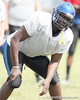 Right tackle Kevin McCoy during the Armwood Hawks' practice on Monday, August 15, 2011 at Armwood High School in Seffner, Fla. / Gator Country photo by Tim Casey