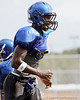 Seffner (Armwood HS) safety Leon McQuay III works out during the Hawks' practice on Monday, August 15, 2011 at Armwood High School in Seffner, Fla. / Gator Country photo by Tim Casey
