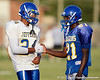 Tampa (Jefferson HS) receiver Adrian Jenkins talks with a teammate up during the Dragons' practice on Monday, August 15, 2011 at Thomas Jefferson High School in Tampa, Fla. / Gator Country photo by Tim Casey