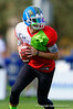 2015 high school football recruit quarterback Jarrett Stidham runs drills during the first day of practice for the 2015 Under Armour All-America High School Football Game.  2015 Under Armour All-America High School Football Game Practice Day 1.  December 29th, 2014. Gator Country photo by David Bowie.