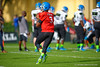 2015 high school football quarterback Deondre Francois runs drills during the first day of practice for the 2015 Under Armour All-America High School Football Game.  2015 Under Armour All-America High School Football Game Practice Day 1.  December 29th, 2014. Gator Country photo by David Bowie.