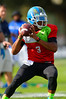 2015 high school football recruit quarterback Deondre Francois runs drills during the first day of practice for the 2015 Under Armour All-America High School Football Game.  2015 Under Armour All-America High School Football Game Practice Day 1.  December 29th, 2014. Gator Country photo by David Bowie.