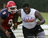 Philadelphia (George Washington HS) defensive tackle Sharrif Floyd works out during Friday Night Lights, a one-night football camp at the University of Florida, on Friday, July 24, 2009 at Ben Hill Griffin Stadium in Gainesville, Fla. / Gator Country photo by Tim Casey
