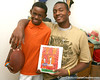 Tampa (Blake HS) tight end Michael McFarland poses for a photo with and Chase Barrs on Monday, May 18, 2009 at the Barrs' home in Tampa, Fla. / Gator Country photo by Tim Casey