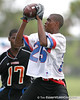Miami (Booker T. Washington HS) wide receiver Quinton Dunbar catches a pass during the Heath Evans Foundation's 4th Annual 7-on-7 Championship on Saturday, June 20, 2009 at The King's Academy in West Palm Beach, Fla. / Gator Country photo by Tim Casey<br /> <br /> The event was held to help raise funds for The Heath Evans Foundation that is dedicated to fostering hope and healing in the lives of children and families affected by sexual abuse.