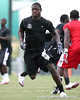 Palm Beach Gardens (Dwyer HS) tight end Gerald Christian works out during the inaugural ESPN RISE Games' Gridiron Kings 7-on-7 tournament on Saturday, July 25, 2009 at Disney's Wide World of Sports Complex in Lake Buena Vista, Fla. / Gator Country photo by Tim Casey