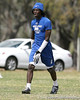 Pahokee (Pahokee HS) wide receiver Chris Dunkley works out during the New Level Athletics Badger Sport Pass Camp on Saturday, March 14, 2009 at the USF Campus Recreation Fowler fields in Tampa, Fla. / Gator Country photo by Tim Casey