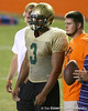 Orange Park (Fleming Island HS) offensive lineman Ian Silberman  works out during Friday Night Lights, a one-night football camp at the University of Florida, on Friday, July 24, 2009 at Ben Hill Griffin Stadium in Gainesville, Fla. / Gator Country photo by Tim Casey
