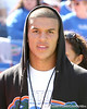 Nokomis (Venice HS) quarterback Trey Burton watches the Gators' game against the Arkansas Razorbacks on Saturday, October 17, 2009 at Ben Hill Griffin Stadium in Gainesville, Fla. Arkansas led 10-7 at halftime. / Gator Country photo by Tim Casey