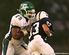 Tampa (Tampa Catholic HS) offensive lineman Chaz Green blocks during the Crusaders' 28-14 win against the South Lake Eagles on Friday, September 4, 2009 at South Lake High School in Groveland, Fla. / Gator Country photo by Tim Casey