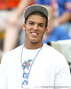 Nokomis (Venice HS) quarterback Trey Burton watches the Gators' game against the Charleston Southern Buccaneers on Saturday, September 5, 2009 at Ben Hill Griffin Stadium in Gainesville, Fla / Gator Country photo by Tim Casey