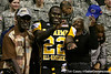Palm Beach Gardens (Dwyer HS) safety Matt Elam announces his verbal commitment to play at the University of Florida during the U.S. Army All-American Bowl on Saturday, January 9, 2010 at the Alamodome in San Antonio. / Gator Country photo by Tim Casey