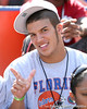 Nokomis (Venice HS) quarterback Trey Burton watches before the Gators' 62-3 win against the Florida International Golden Panthers on Saturday, November 21, 2009 at Ben Hill Griffin Stadium in Gainesville, Fla. / photo by Tim Casey