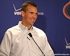 Florida head coach Urban Meyer speaks to reporters about the Gators' signing class on Wednesday, February 3, 2010 at Ben Hill Griffin Stadium in Gainesville, Fla. / Gator Country photo by Tim Casey