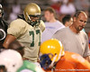 Orange Park (Fleming Island HS) offensive lineman Ian Silberman works out at Friday Night Lights, a one-session football camp on Friday, July 18, 2008 at Ben Hill Griffin Stadium / Gator Country photo by Tim Casey