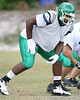 Tampa (Tampa Catholic HS) offensive lineman Chaz Green works out during practice on Thursday, May 14, 2009 in Tampa / Gator Country photo by Tim Casey