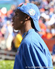 Miami (Booker T. Washington HS) wide receiver Quinton Dunbar watches the Gators' game against the Arkansas Razorbacks on Saturday, October 17, 2009 at Ben Hill Griffin Stadium in Gainesville, Fla. Arkansas led 10-7 at halftime. / Gator Country photo by Tim Casey