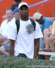 Bradenton (Southeast HS) safety Jonathan Dowling watches during Friday Night Lights, a one-night football camp at the University of Florida, on Friday, July 24, 2009 at Ben Hill Griffin Stadium in Gainesville, Fla. / Gator Country photo by Tim Casey