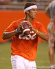 Nokomis (Venice HS) quarterback Trey Burton works out at Friday Night Lights, a one-session football camp on Friday, July 18, 2008 at Ben Hill Griffin Stadium / Gator Country photo by Tim Casey