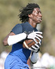 Pahokee (Pahokee HS) wide receiver Chris Dunkley makes a catch during the New Level Athletics Badger Sport Pass Camp on Saturday, March 14, 2009 at the USF Campus Recreation Fowler fields in Tampa, Fla. / Gator Country photo by Tim Casey