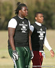 New Port Richey (Gulf HS) defensive tackle Leon Orr lines up during the New Level Athletics/ Badger Sport Pass Camp on Saturday, March 14, 2009 at the USF Campus Recreation Fowler fields in Tampa, Fla. / Gator Country photo by Tim Casey