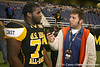 Philadelphia (George Washington HS) defensive tackle Sharrif Floyd talks to  Gator Country reporter Justin Wells after the U.S. Army All-American Bowl on Saturday, January 9, 2010 at the Alamodome in San Antonio, Texas. / Gator Country photo by Tim Casey
