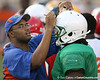 New Port Richey (Gulf HS) defensive tackle Leon Orr works out during Friday Night Lights, a one-night football camp at the University of Florida, on Friday, July 24, 2009 at Ben Hill Griffin Stadium in Gainesville, Fla. / Gator Country photo by Tim Casey
