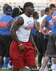 Moreno Valley, Calif. (Rancho Verde HS) defensive end Ronald Powell works out during Friday Night Lights, a one-night football camp at the University of Florida, on Friday, July 24, 2009 at Ben Hill Griffin Stadium in Gainesville, Fla. / Gator Country photo by Tim Casey