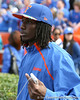 Pahokee (Pahokee HS) wide receiver Chris Dunkley watches before the Gators' 37-10 win against Florida State on Saturday, November 28, 2009 at Ben Hill Griffin Stadium in Gainesville, Fla. / Gator Country photo by Tim Casey