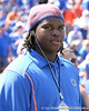 New Port Richey (Gulf HS) defensive tackle Leon Orr watches the Gators' game against the Tennessee Volunteers on Saturday, September 19, 2009 at Ben Hill Griffin Stadium in Gainesville, Fla. / Gator Country photo by Tim Casey
