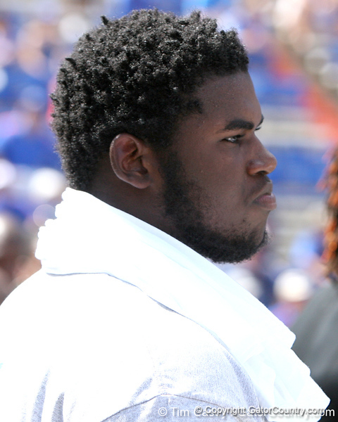 Philadelphia (George Washington HS) defensive tackle Sharrif Floyd watches the Gators' game against the Tennessee Volunteers on Saturday, September 19, 2009 at Ben Hill Griffin Stadium in Gainesville, Fla. / Gator Country photo by Tim Casey