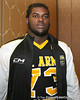 Philadelphia (George Washington HS) defensive tackle Sharrif Floyd poses for a photo after the fourth day of practice for the U.S. Army All-American Bowl on Thursday, January 7, 2010 at the Grand Hyatt Hotel in San Antonio. / Gator Country photo by Tim Casey