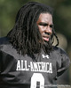 photo by Tim Casey<br /> <br /> Defensive end Dyron Dye (undecided) works out during the first day of practice leading up to the Under Armour All-America Game on Wednesday, December 31, 2008 at Disney's Wide World of Sports Complex in Lake Buena Vista, Fla.