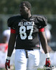 photo by Tim Casey<br /> <br /> Defensive tackle Abry Jones (Georgia commit) works out during the first day of practice leading up to the Under Armour All-America Game on Wednesday, December 31, 2008 at Disney's Wide World of Sports Complex in Lake Buena Vista, Fla.