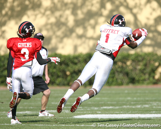 photo by Tim Casey<br /> <br /> Wide receiver Alshon Jeffrey (USC commit) works out during the first day of practice leading up to the Under Armour All-America Game on Wednesday, December 31, 2008 at Disney's Wide World of Sports Complex in Lake Buena Vista, Fla.