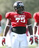 photo by Tim Casey<br /> <br /> Defensive tackle Gary Brown (Florida commit) works out during the first day of practice leading up to the Under Armour All-America Game on Wednesday, December 31, 2008 at Disney's Wide World of Sports Complex in Lake Buena Vista, Fla.
