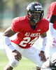 photo by Tim Casey<br /> <br /> Outside linebacker Ronnell Lewis (Oklahoma commit) works out during the first day of practice leading up to the Under Armour All-America Game on Wednesday, December 31, 2008 at Disney's Wide World of Sports Complex in Lake Buena Vista, Fla.