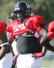 photo by Tim Casey<br /> <br /> Defensive tackle Antwan Lowery (Rutgers commit) works out during the first day of practice leading up to the Under Armour All-America Game on Wednesday, December 31, 2008 at Disney's Wide World of Sports Complex in Lake Buena Vista, Fla.